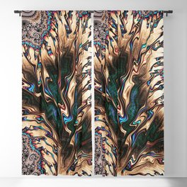 Fractal Earth and Water colors Blackout Curtain