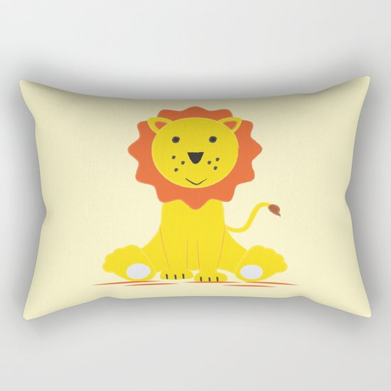 Small lion Rectangular Pillow
