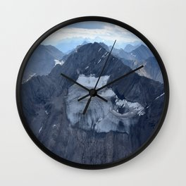 Mountains From Above Wall Clock