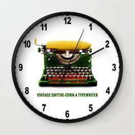 ORGANIC INVENTIONS SERIES: Vintage Smythe-Corn-A Typewriter Wall Clock