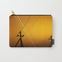Pillar for electricity wire on twilight time Carry-All Pouch
