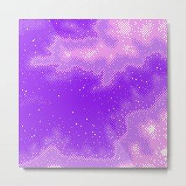 Purple Nebula (8bit) Metal Print