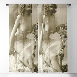 Ziegfeld Follies Jazz Age Paris Showgirl, 1929 black and white photograph Blackout Curtain