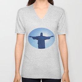 Cristo Redentor - Brasil  Unisex V-Neck