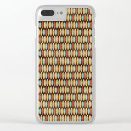 Surf Boards Retro Style Clear iPhone Case
