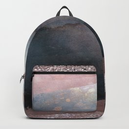 Rose Gold Blush Pink & Blue Watercolor Backpack