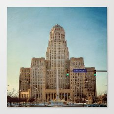 Down Town City Hall Buffalo NY Canvas Print
