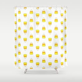 Candy Corn Pattern Shower Curtain