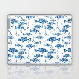 Blue fish. Laptop & iPad Skin