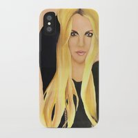 britney spears iPhone & iPod Cases featuring BRITNEY SPEARS  .- BRITNEY JEAN  by Alfonso Aranda
