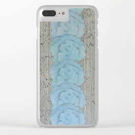 Calico-White Clear iPhone Case