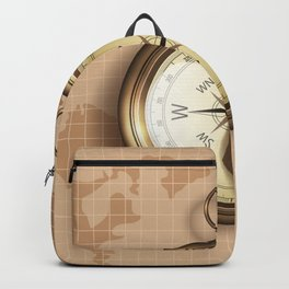 Abstract Golden Compass Backpack