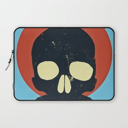 Skull With Stache Laptop Sleeve