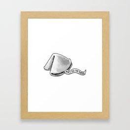 Wise Words Framed Art Print
