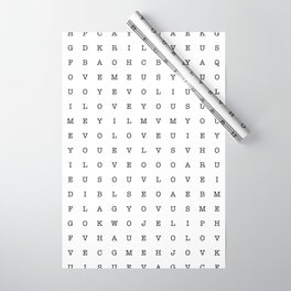 LOVE word search Wrapping Paper