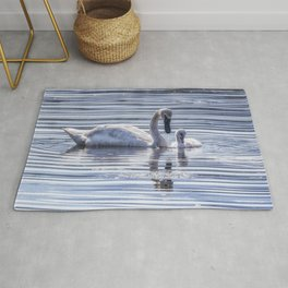 Cygnet with Mother Rug