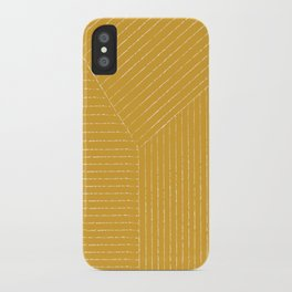 Lines / Yellow iPhone Case