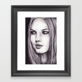 Cinder Fox Framed Art Print