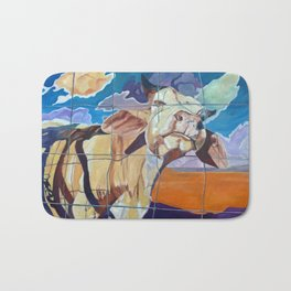 The Girl Next Door Cow Portrait Bath Mat