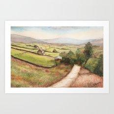 Yorkshire Farmland Art Print