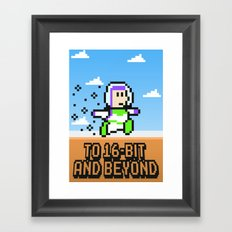 To 16Bit and Beyond Framed Art Print