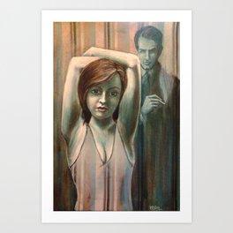 The Striped Room Caper Art Print