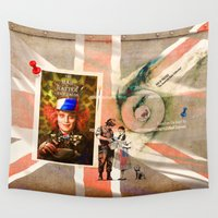 politics Wall Tapestries featuring GOD OF POLITICS (The American Gods Collection) by Doyazan Mohamed