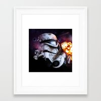 stormtrooper Framed Art Prints featuring Stormtrooper by Ruveyda & Emre