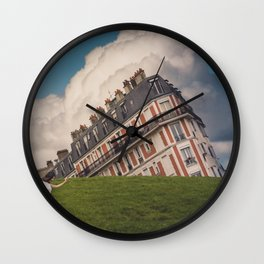 Tilted house of Paris Wall Clock