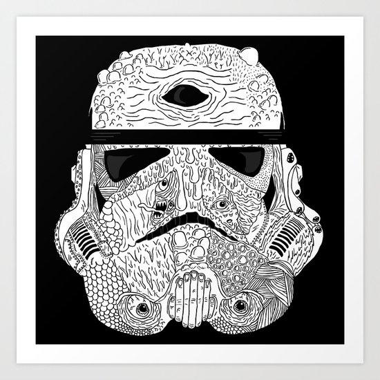 Gore Trooper Blk/Wht Art Print