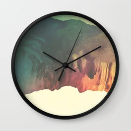 "Glitch art, ""Valley Of Flowers"" 2014 Wall Clock"