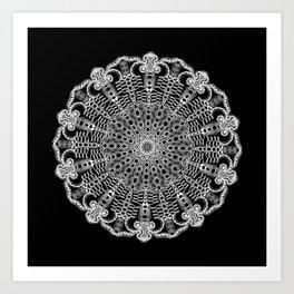 Mandala Project 228 | White Lace Art Print