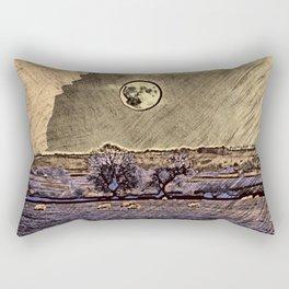 Moon over Debdale Rectangular Pillow