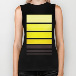 Yellow Minimalist Watercolor Mid Century Staggered Stripes Rothko Color Block Geometric Art Biker Tank