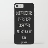 coffe iPhone & iPod Cases featuring Coffe Slave by Nola Montgomery