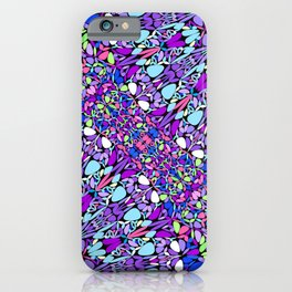 Purple Mandala 1960's Hippie Chic Design iPhone Case