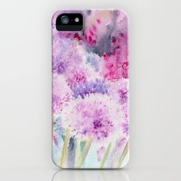 Alliums and Foxgloves iPhone Case