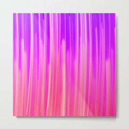 Abstract pink violet white watercolor brushstrokes Metal Print