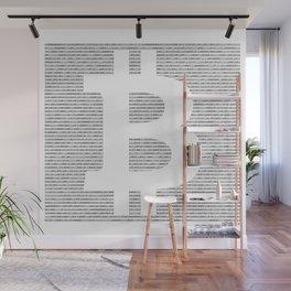 Binary Bitcoin Wall Mural