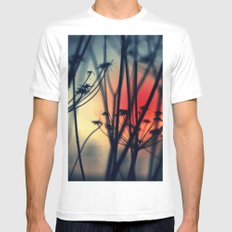 Shapes - dry weeds at sunrise MEDIUM White Mens Fitted Tee