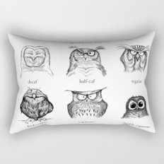 Caffeinated Owls Rectangular Pillow