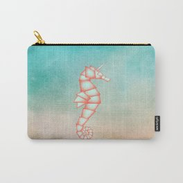 Geometric Animal: Seahorse Unicorn Carry-All Pouch