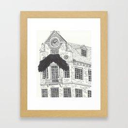 Mustachioed Monuments -- Old State House Framed Art Print