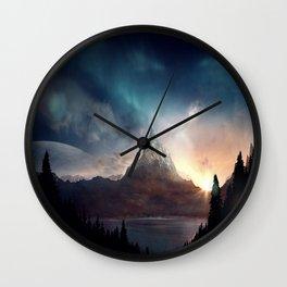 fantasy mountain Wall Clock