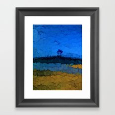 Volcano under the Blue Sky Framed Art Print