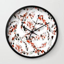 Living Jewel: Koi Wall Clock