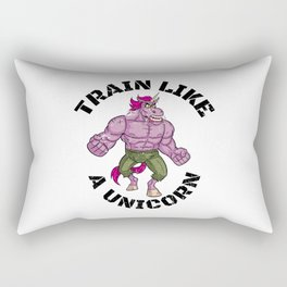 Train Like A Unicorn | Mythical Training Fitness Rectangular Pillow