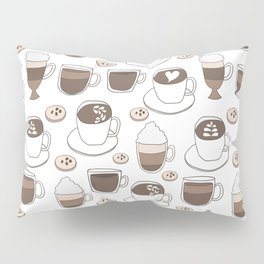 Coffee Cups Pillow Sham
