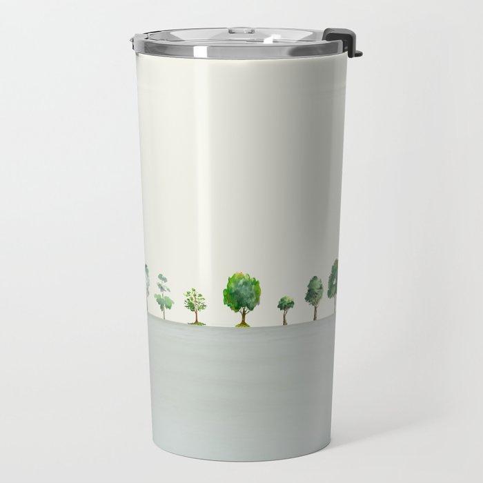 A Row Of Trees Travel Mug