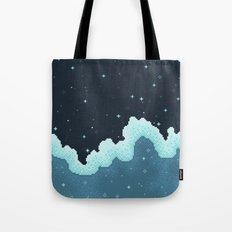 Snowfall Galaxy Tote Bag